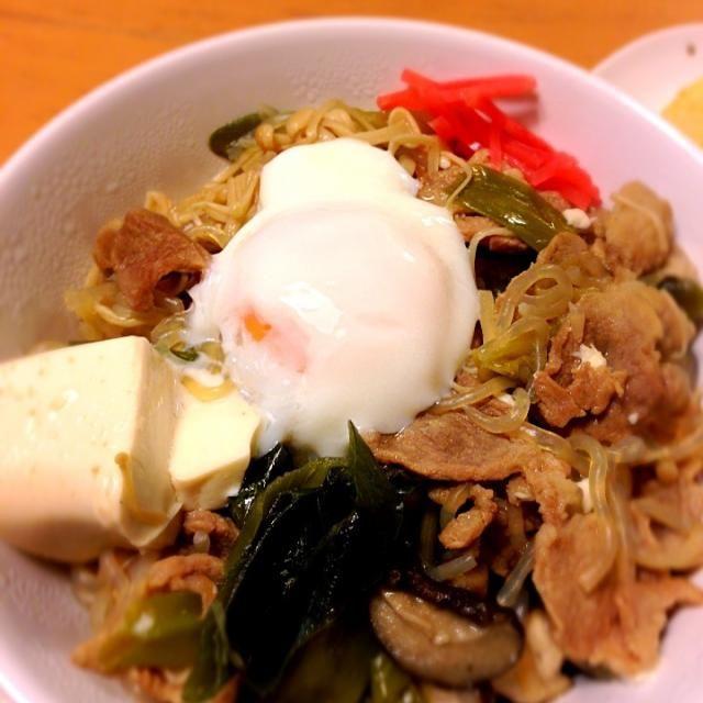 夏バテには、豚肉ですよー - 7件のもぐもぐ - 豚肉すき焼き丼 by mai5963