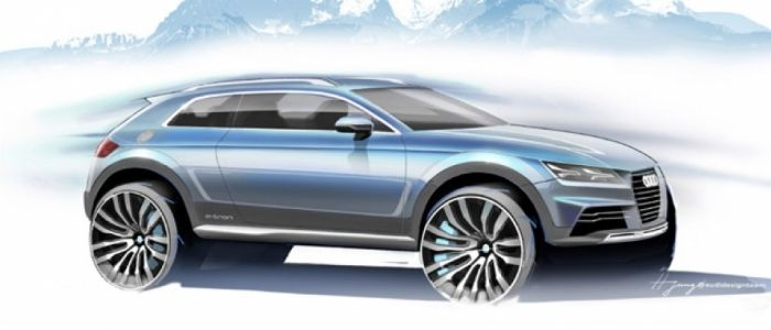 Audi Crossover Concept e-tron prototipo de 4,20 metros en la próxima edición del Salón de Detroit.