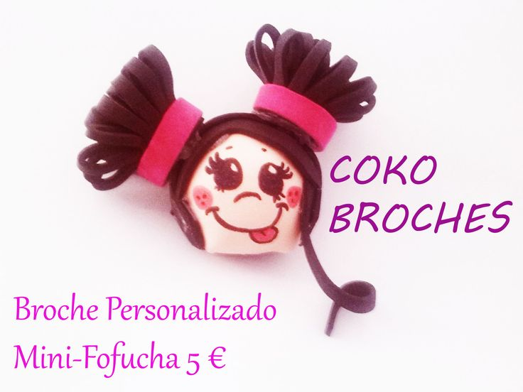 Minifofucha con coletitas cokobroches.blogspot.com.es www.anitecno.com