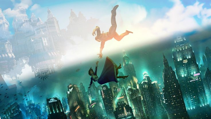 Bioshock Infinite Game Falling HD Wallpaper