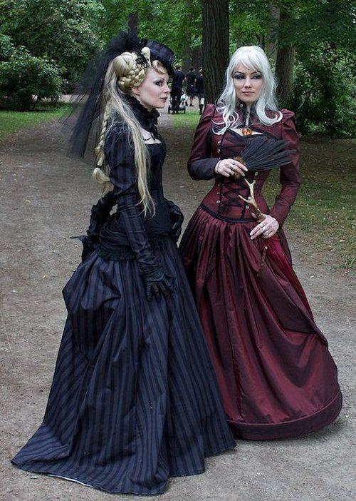Steampunk / Neo Victorian women's fashion dresses. Women. Dress. Woman