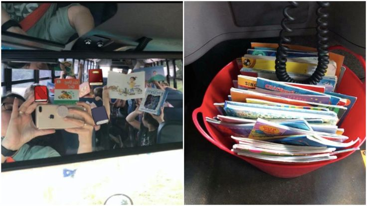 Bus drivers bucket of books is an idea every school