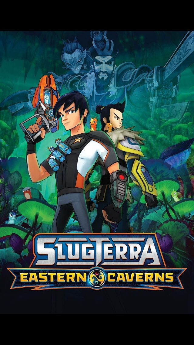 """Slugterra: Eastern Caverns  """"In Slugterra: Eastern Caverns, Eli and the Shane Gang accompany Junjie to his home in the strange and beautiful Eastern Caverns. But the sinister Emperor and his henchmen have pillaged every cavern of its slugs, and without the slugs' energy, the Eastern Caverns have grown dark and dangerous. Junjie is determined to rescue the slugs, save his homeland, and redeem the legacy he left behind while under the Emperor's control as the Dark Slinger—and with Eli and the…"""