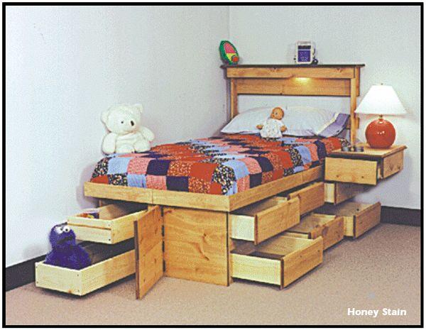 49 Fantastiche Immagini Su Legno Letti Con Cassettone Bed With Drawers Su Pinterest