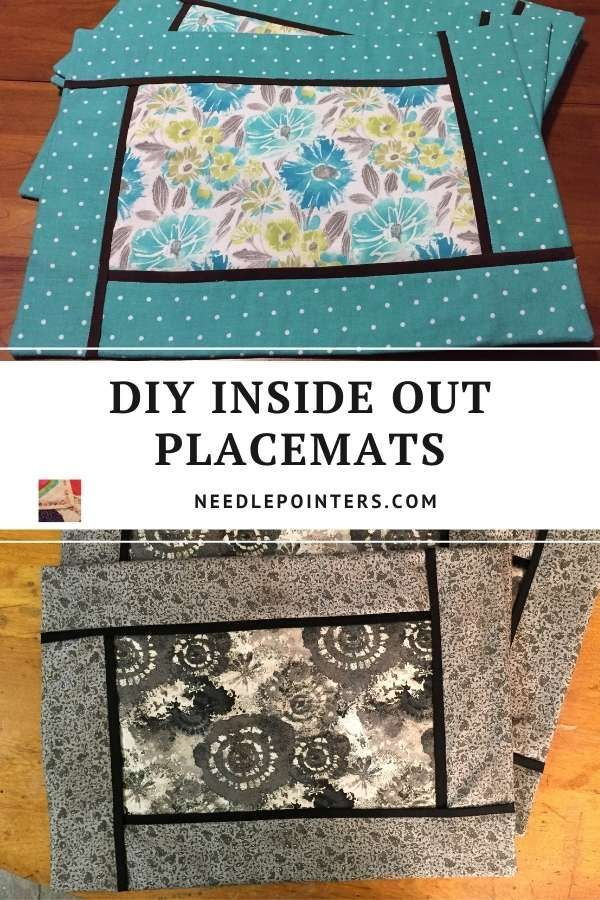 Diy Inside Out Placemats Needlepointers Com In 2021 Diy Placemats Fabric Quilted Placemat Patterns Placemats Patterns