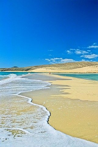 Spain, Canary Islands,Fuerteventura Island, Peninsula de Jandia, Playa de Sotavento de Jandia
