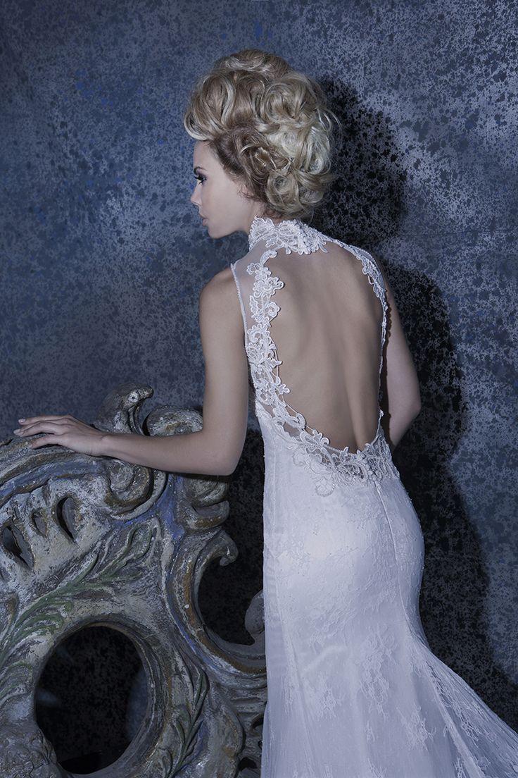 Our //Katia// #weddingdress #vintage #openback #lace