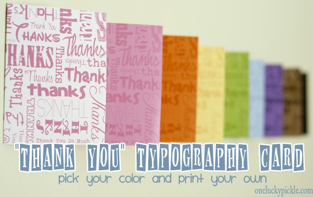 Free printable thank-you cards! SO CUTE!