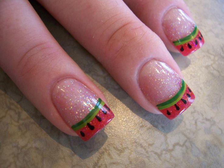 Summer-Watermelon Nails. :)