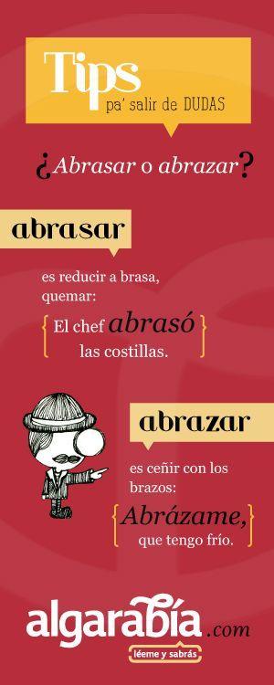 abrasar o abrazar - español