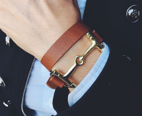 Equestrian leather wrap bracelet women  Mens equestrian by ideana