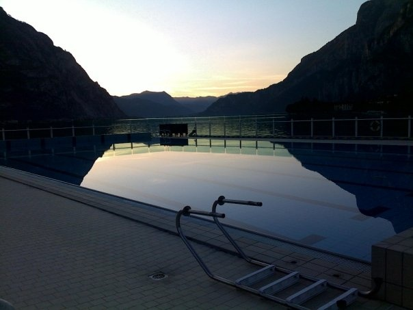 pool in front of the lake, Lecco