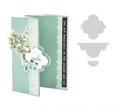 Decorative Die Lattice Card Flip