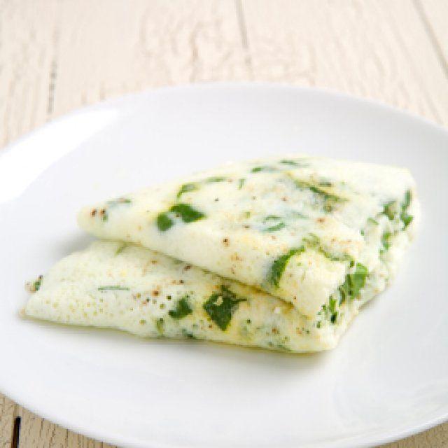 Omelet de Claras con Espinacas