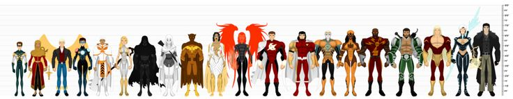 So the lineup/height chart I did for the Peacemakers a while back gave me an idea about doing the same for as many of my teams or groups for the Extraordinary Mythos as possible. So for the past mo...