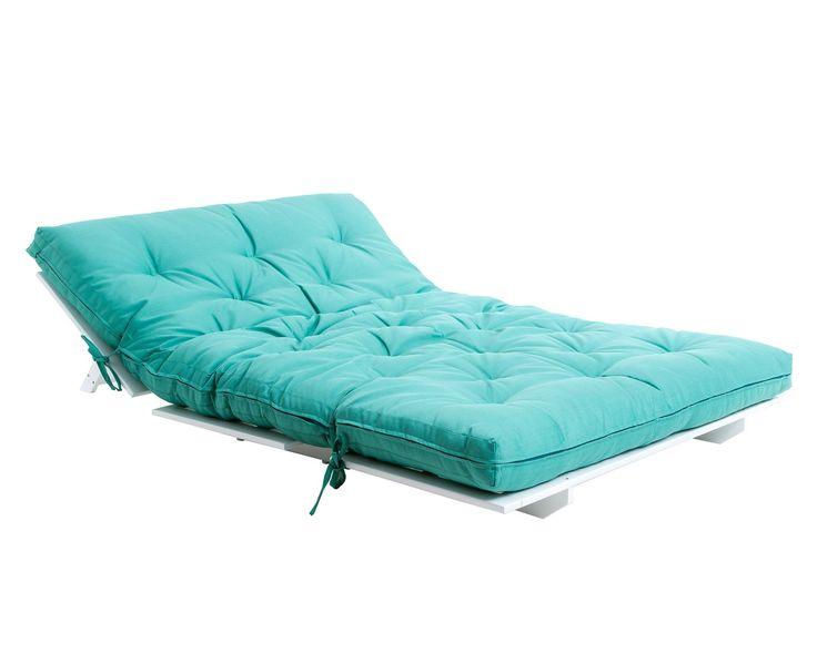 Sof cama liberdade verde base branca casa arq e decor - Sofa cama verde ...