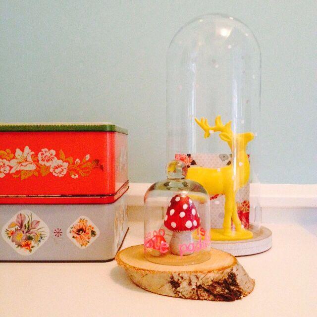 Wil je graag styling advies, kom dan kijken op de website www.littledeer.nl #cloche #stolp #DIY