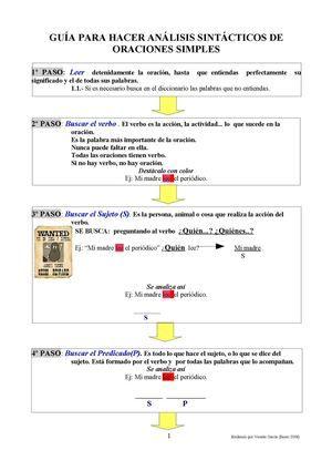 análisis sintáctico oración simple (pasos)
