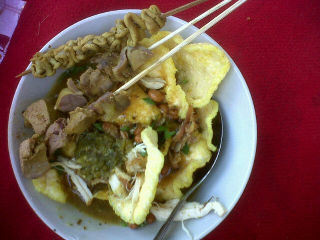 "better breakfast dulu at Bubur Ayam ""Cak Man"" in Banjarnegara, Jawa Tengah"