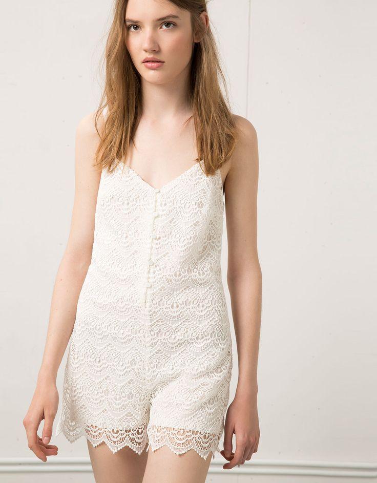 Bershka guipure jumpsuit - £29.99
