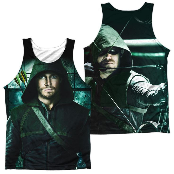 ARROW/TWO SIDES (FRONT/BACK PRINT)-ADULT 100% POLY TANK TOP-WHITE-3X