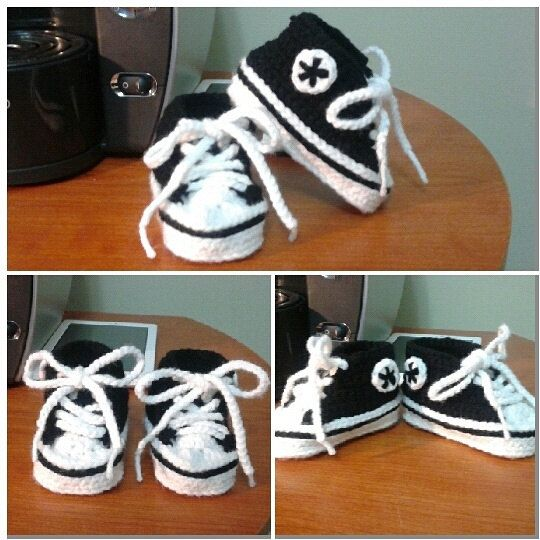 Crochet Converse Sneakers for Baby Boy and by TooLegitToKnitToo