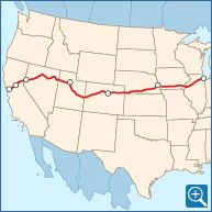 Train Ride From Colorado to California.... A MUST!  California Zephyr Route Map