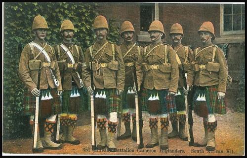 UK Scotland Military Cameron Highlanders 3rd Batt South Africa Kit c 1910