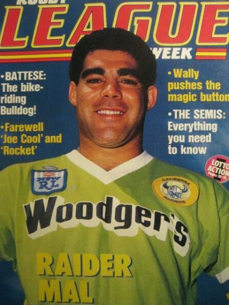GREATEST CANBERRA RAIDERS MOMENTS: 4. Meninga joins the Raiders, 1986  Mal Meninga was the first marquee signing for Canberra, and to this day remains the greatest of all Raiders. Meninga's signing was instrumental in attracting other players to the club, and was the start of the rise of the club to a powerhouse.