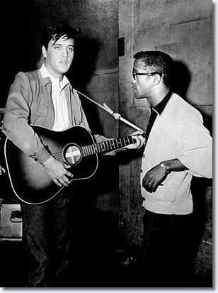 Elvis and Sammy Davis Jr.
