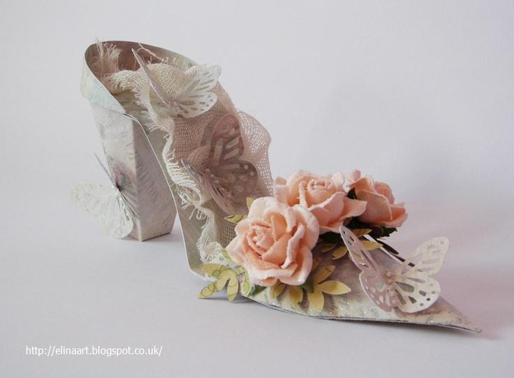 Elina Cardmaking Hobby: Paper Shoe