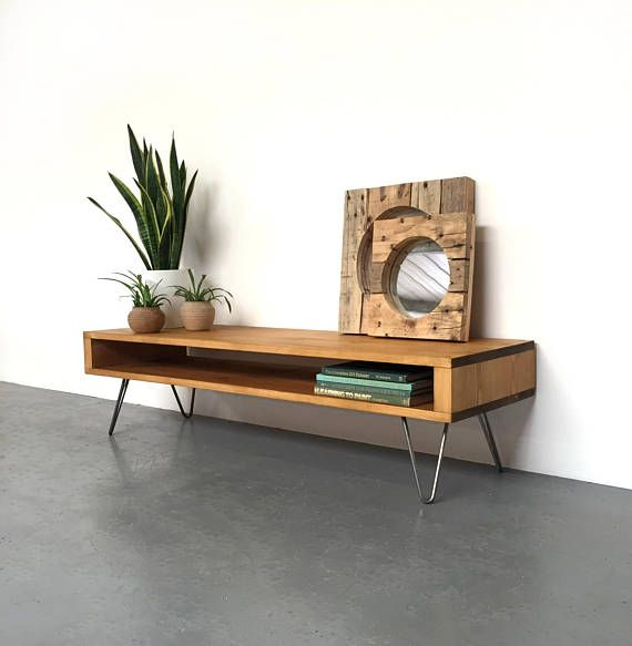 Oldfield Low Large Mid Century Style Side Table Coffee Table