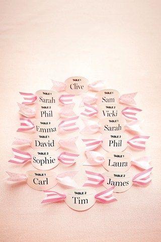 DIY Ribbon Escort Card (BridesMagazine.co.uk) (BridesMagazine.co.uk)