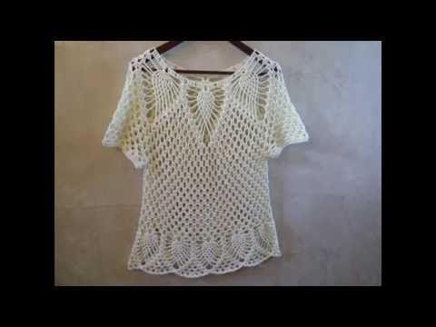 blusa de piñas facil y rapida parte 2 - YouTube