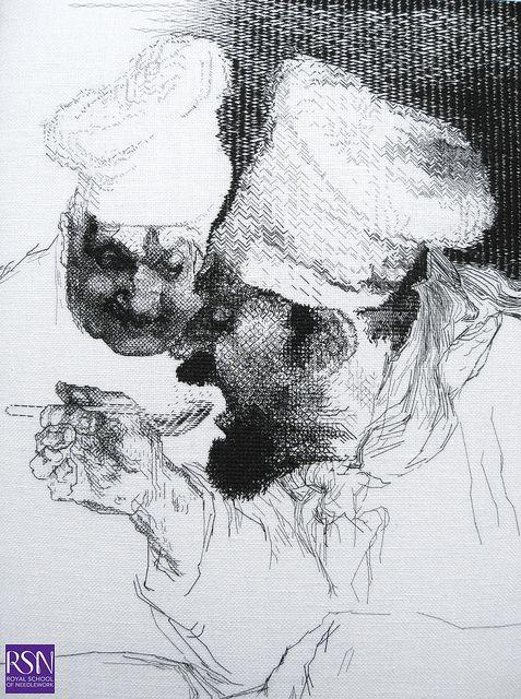Blackwork by Marie T by Royal School of Needlework - Durham, via Flickr