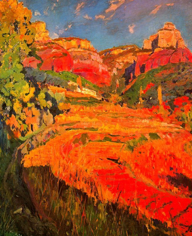 """El valle rojo"". Joaquim Mir."