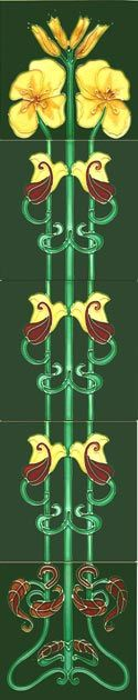 Historic Style - Historic Tiles - Tube-Lined Art Nouveau Tiles