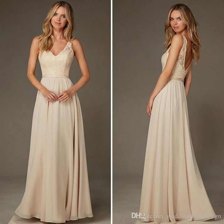 Wholesale Long Bridesmaid Dress Champagne Bridesmaid Dresses 2016 Sequined Lace Chiffon Bridesmaid Dress V Neck V Neck Wedding Party Bd44 Nice Bridesmaid Dresses Orange Bridesmaids Dresses From Weddingdressdesign, $85.43| Dhgate.Com