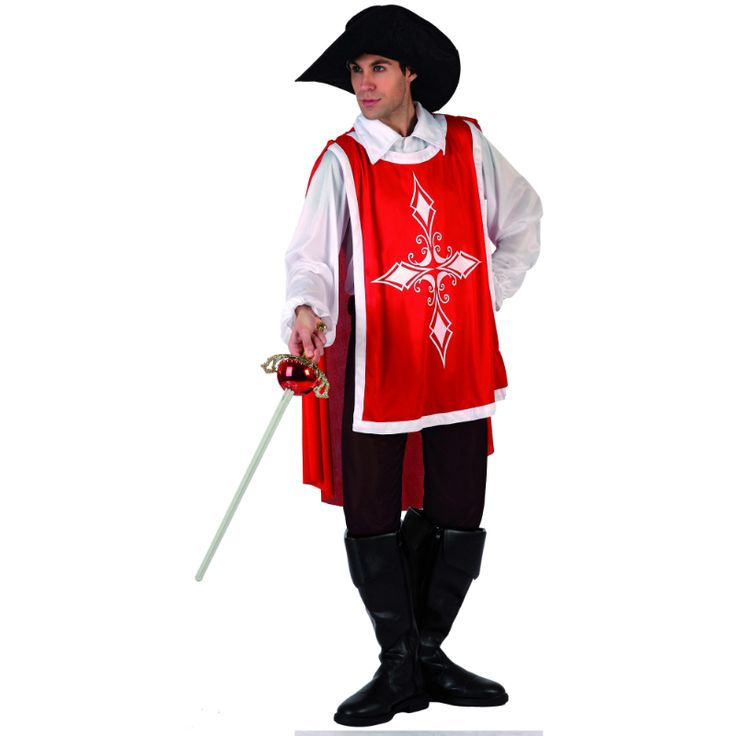 Disfraz de Mosquetero Rojo #disfraces #carnaval