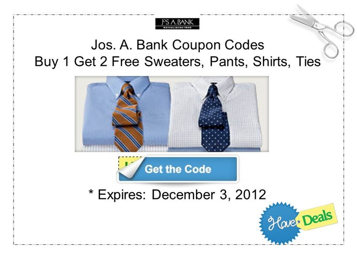 Jos a banks coupon discount code