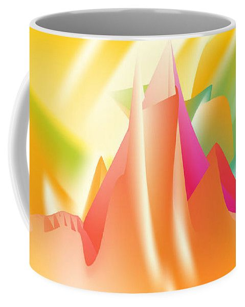 Top Coffee Mug featuring the digital art Vertigo by Ron Labryzz