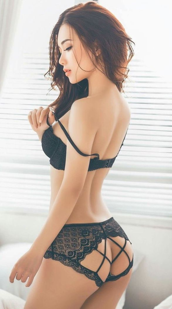 Sensual cute asian lingerie