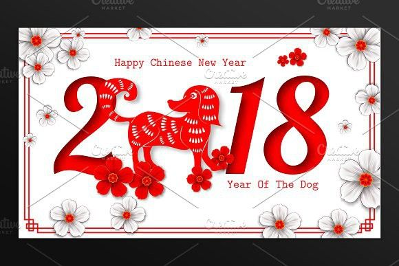 2018 chinese new year card card templates greeting card template and template