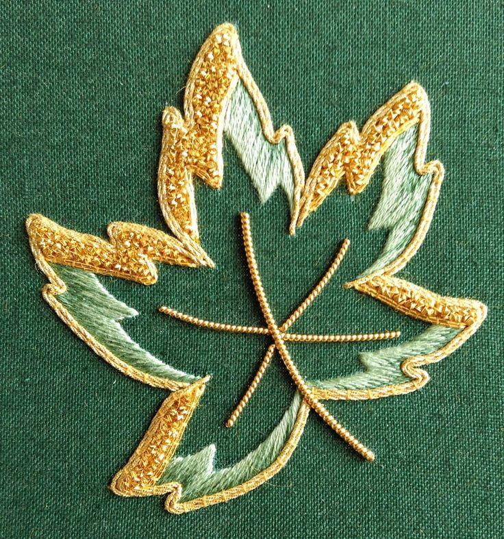 'Golden Ivy' Silk & Goldwork Embroidery Kit