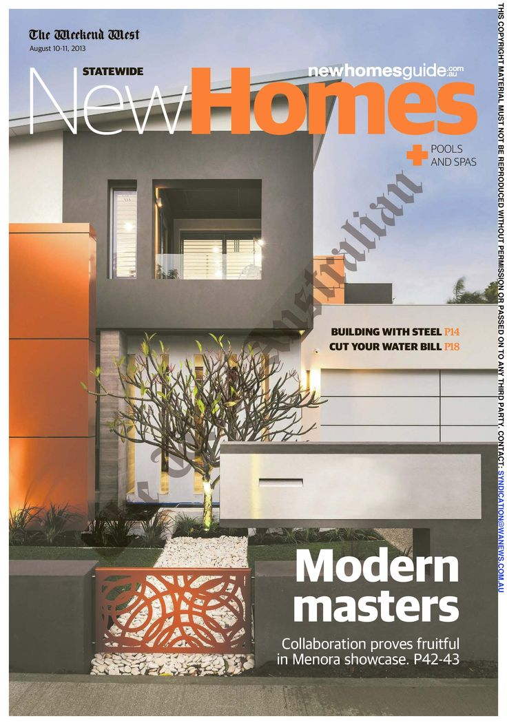 The West Australian New Homes Liftout  10th Aug '13