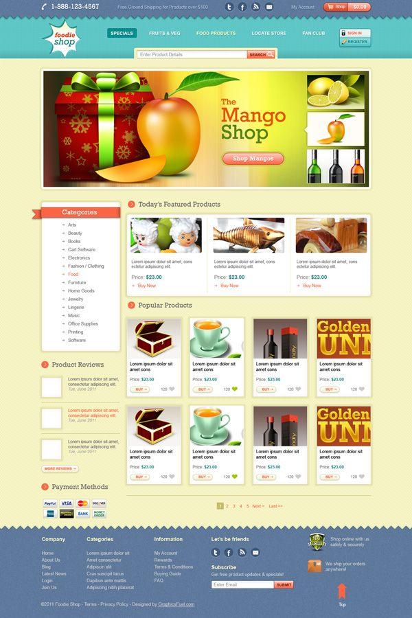 Ecommerce website template design by Techidea