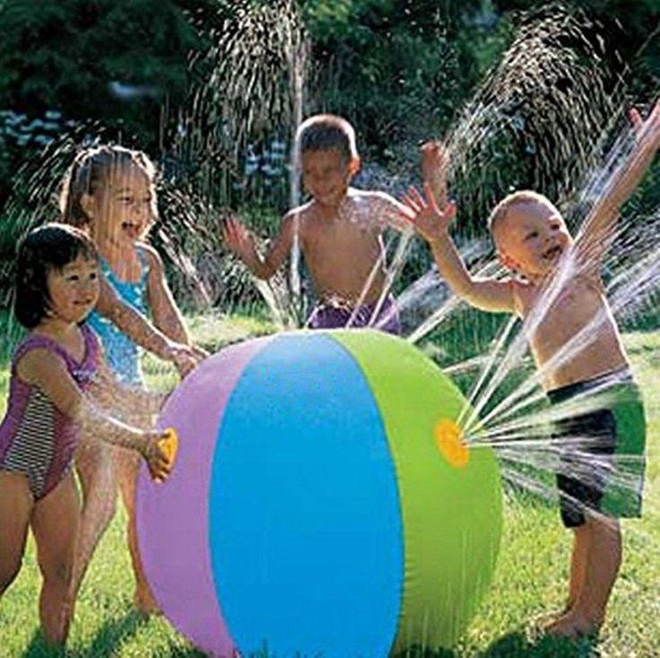 Inflatable Beach Ball Water Sprinkler