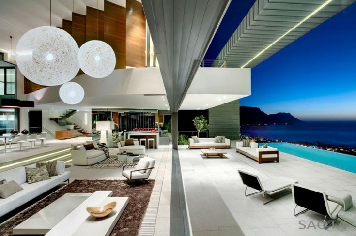 Stefan Antoni Olmesdahl Truen Architects (SAOTA) and OKHA Interiors, Cape Town-based architects and interior designers have designed the Nettleton 199 property in Clifton, Cape Town, South Africa.
