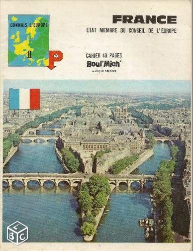 Cahier scolaire Boul´ Mich´ France Paris années 60 #chrisdeparis Livres SP