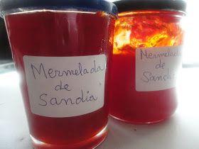 Ingredientes:  1 kg de sandia  600gr deazúcar  una corteza delimón  canela en rama   Preparación:  Preparar la sandia,lavándola,co...